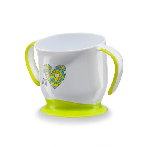 Кружка Happy Baby на присоске Baby cup with suction base Салатовая (4)