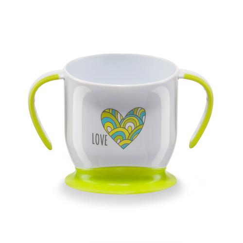Кружка Happy Baby на присоске Baby cup with suction base Салатовая (5)