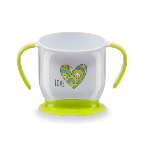 Кружка Happy Baby на присоске Baby cup with suction base Салатовая (4)