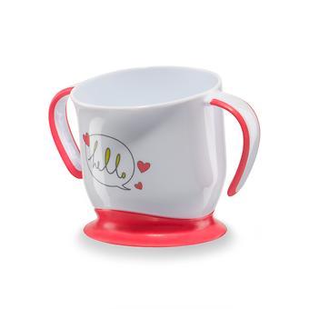 Кружка Happy Baby на присоске Baby cup with suction base Красная - Minim