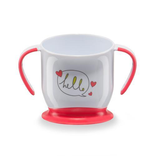 Кружка Happy Baby на присоске Baby cup with suction base Красная (4)