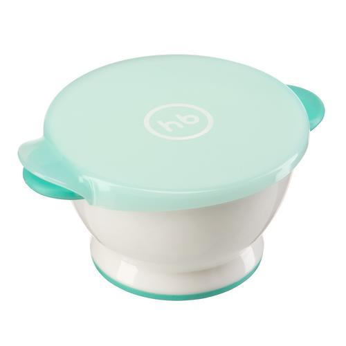Тарелка Happy Baby с крышкой Small bowl Мятная (3)