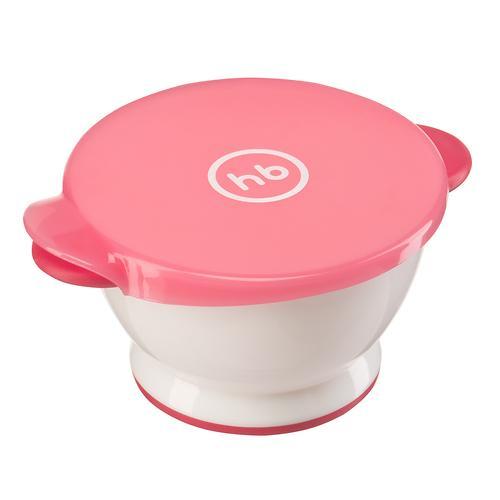 Тарелка Happy Baby с крышкой Small bowl Красная (3)