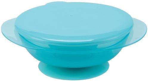 Тарелочка детская на присоске с крышкой Happy baby Eat & Carry Blue (3)