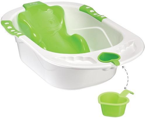 Детская ванна Happy baby с анатомической горкой Bath comfort Green (3)