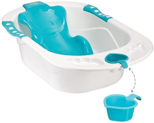 Ванна Happy baby с анатомической горкой Bath comfort Blue (3)
