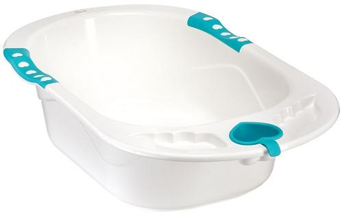 Ванна Happy baby с анатомической горкой Bath comfort Yellow (4)