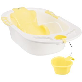 Ванна Happy baby с анатомической горкой Bath comfort Yellow - Minim