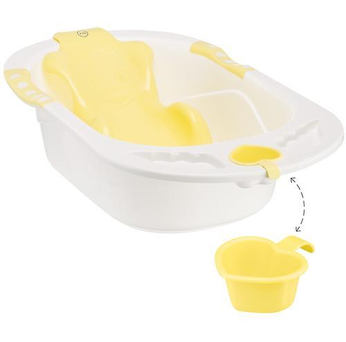 Ванна Happy baby с анатомической горкой Bath comfort Yellow (3)