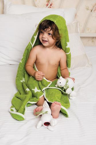 Полотенце с капюшоном Happy Baby Fluffy Gray (4)