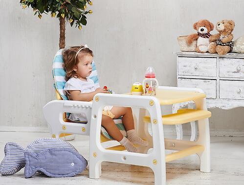 Стульчик для кормления Happy Baby Oliver Yellow (8)
