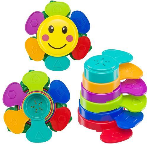 Набор игрушек Happy Baby для ванной Flower Puzzle (8)