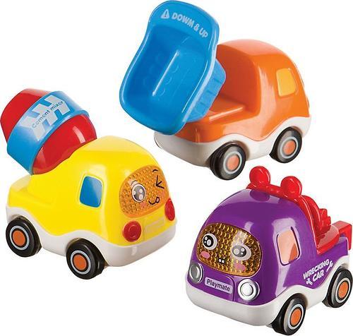 Набор веселых грузовичков Happy Baby CARS4FUN с инерционным механизмом (3)