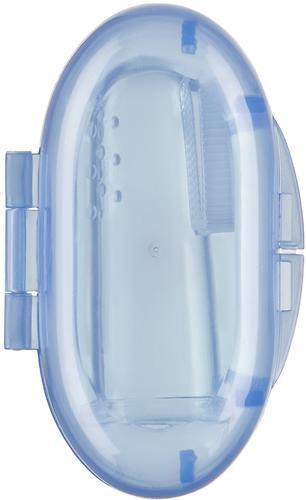 Зубная щетка на палец Happy baby Silicone Finger Toothbrush Lilac (5)