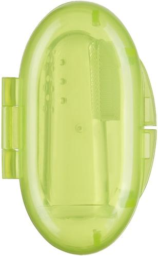 Зубная щетка на палец Happy baby Silicone Finger Toothbrush Lime (5)