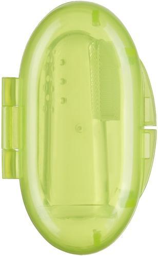 Зубная щетка на палец Happy baby Silicone Finger Toothbrush Lime (5)
