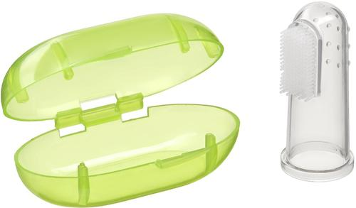 Зубная щетка на палец Happy baby Silicone Finger Toothbrush Lime (4)