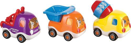 Набор веселых грузовичков Happy Baby CARS4FUN с инерционным механизмом (4)