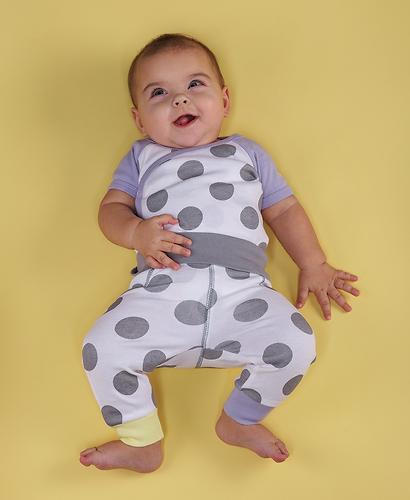 Боди с коротким рукавом Happy Baby в горошек (5)