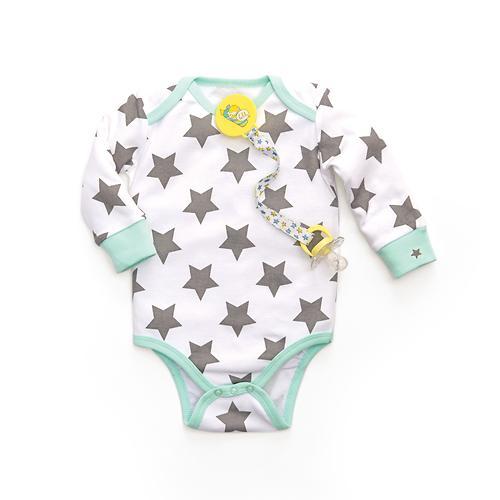 Боди с длинным рукавом Happy Baby с царапками набор 2шт (8)