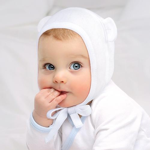 Набор чепчиков Happy Baby белый/сиреневый 2шт (6)