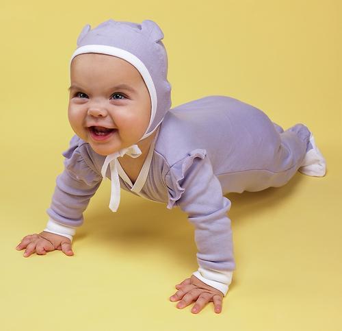 Набор чепчиков Happy Baby белый/сиреневый 2шт (7)