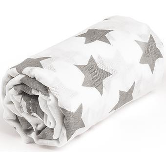 Пеленка Happy Baby муслиновая Gray Big Stars - Minim
