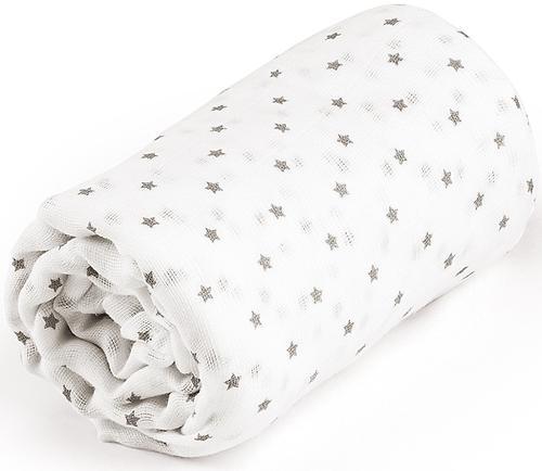 Пеленка Happy Baby муслиновая Gray Little Stars (6)