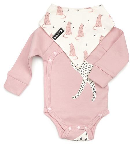 Боди Happy Baby с длинным рукавом в наборе с нагрудным фартуком Happy Baby 90049 (5)