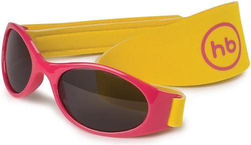 Очки солнезащитные Happy Baby с ремешком Pink (1)