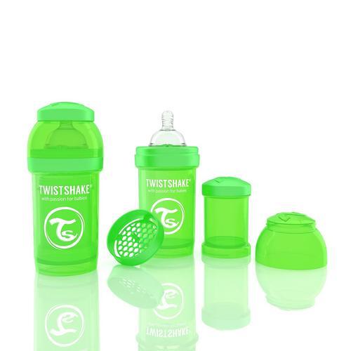 Антиколиковая бутылочка Twistshake 180 мл Зеленая (3)