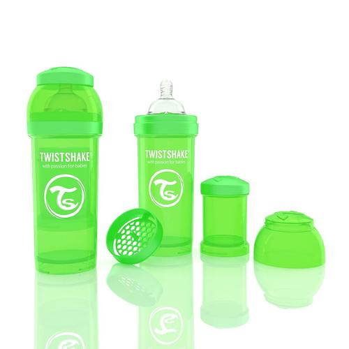 Антиколиковая бутылочка Twistshake 260 мл Зеленая (6)