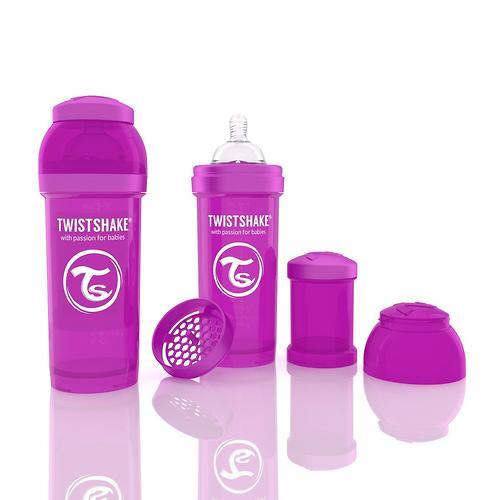 Антиколиковая бутылочка Twistshake 260 мл Фиолетовая (5)