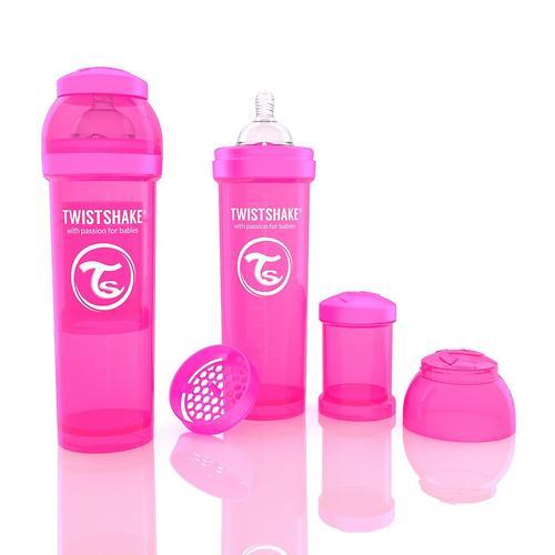 Антиколиковая бутылочка Twistshake 330 мл Розовая (5)