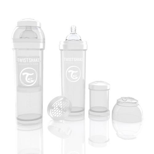 Антиколиковая бутылочка Twistshake 330 мл Белая (7)