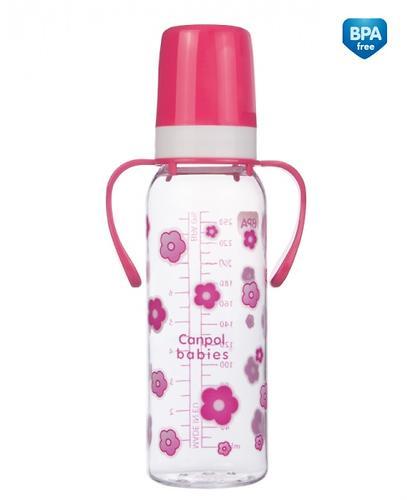 Тритановая бутылочка Canpol 250 мл с ручками 12мес+ в ассортименте (5)