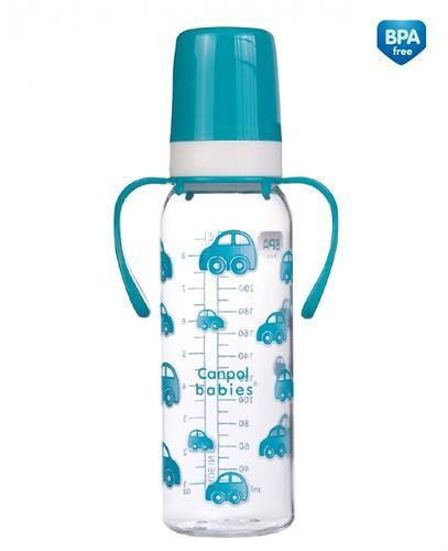 Тритановая бутылочка Canpol 250 мл с ручками 12мес+ в ассортименте (6)
