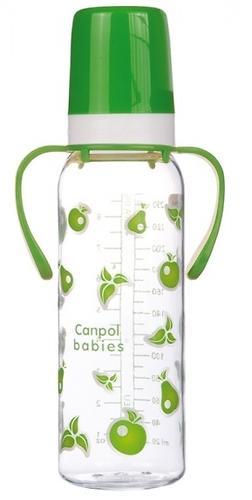 Тритановая бутылочка Canpol 250 мл с ручками 12мес+ в ассортименте (4)