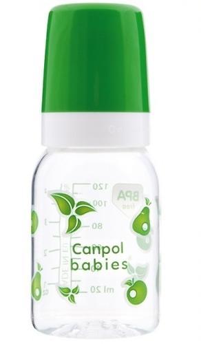 Тритановая бутылочка Canpol 120 мл 3мес+ в ассортименте (4)