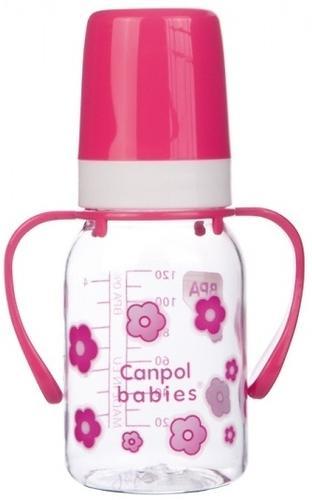 Тритановая бутылочка Canpol 120 мл с ручками 3мес+ в ассортименте (4)