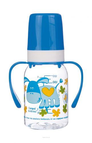 Бутылочка Canpol для кормления Ферма 120 мл 3мес+ в ассортименте (10)