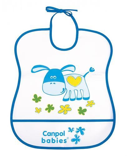 Слюнявчик Canpol пластиковый мягкий в ассортименте (9)