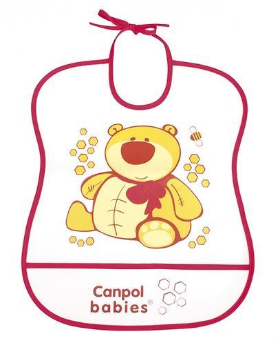 Слюнявчик Canpol пластиковый мягкий в ассортименте (10)