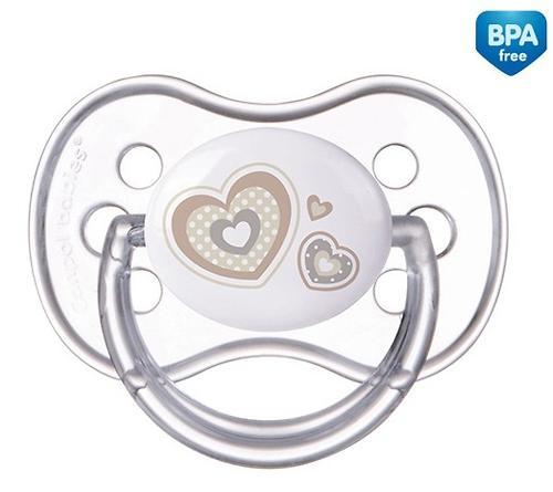 Пустышка Canpol круглая силиконовая 0-6 мес Newborn baby 22/562 (6)