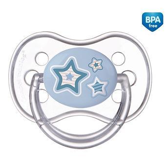 Пустышка Canpol круглая силиконовая 0-6 мес Newborn baby 22/562 - Minim