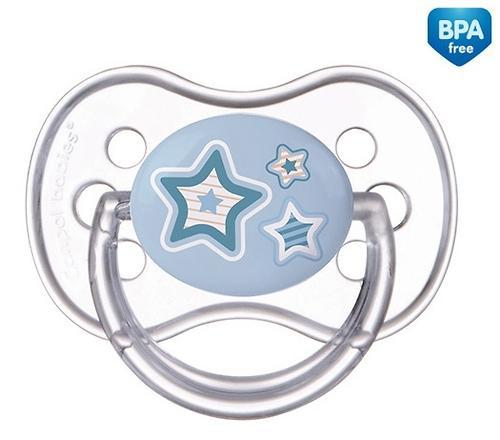 Пустышка Canpol круглая силиконовая 0-6 мес Newborn baby 22/562 (4)