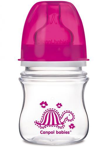 Антиколиковая бутылочка Canpol с широким горлышком EasyStart Цветные зверушки 120 мл 3м+ в ассортименте (8)