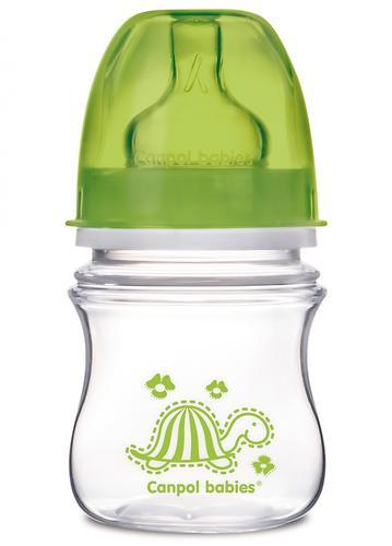Антиколиковая бутылочка Canpol с широким горлышком EasyStart Цветные зверушки 120 мл 3м+ в ассортименте (9)