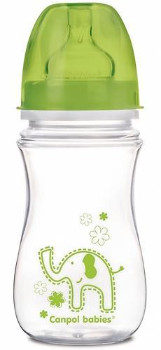 Бутылочка Canpol антиколиковая с широким горлышком EasyStart Цветные зверушки 240 мл 3м+ в ассортименте (6)