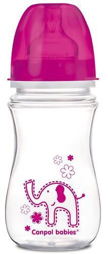 Бутылочка Canpol антиколиковая с широким горлышком EasyStart Цветные зверушки 240 мл 3м+ в ассортименте (4)